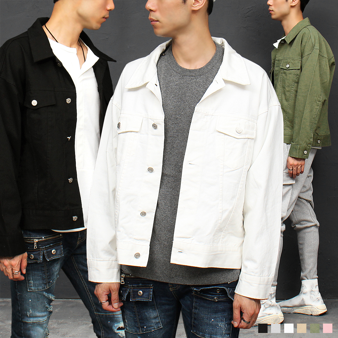 Basic Standard Fit Color Denim Jacket 033