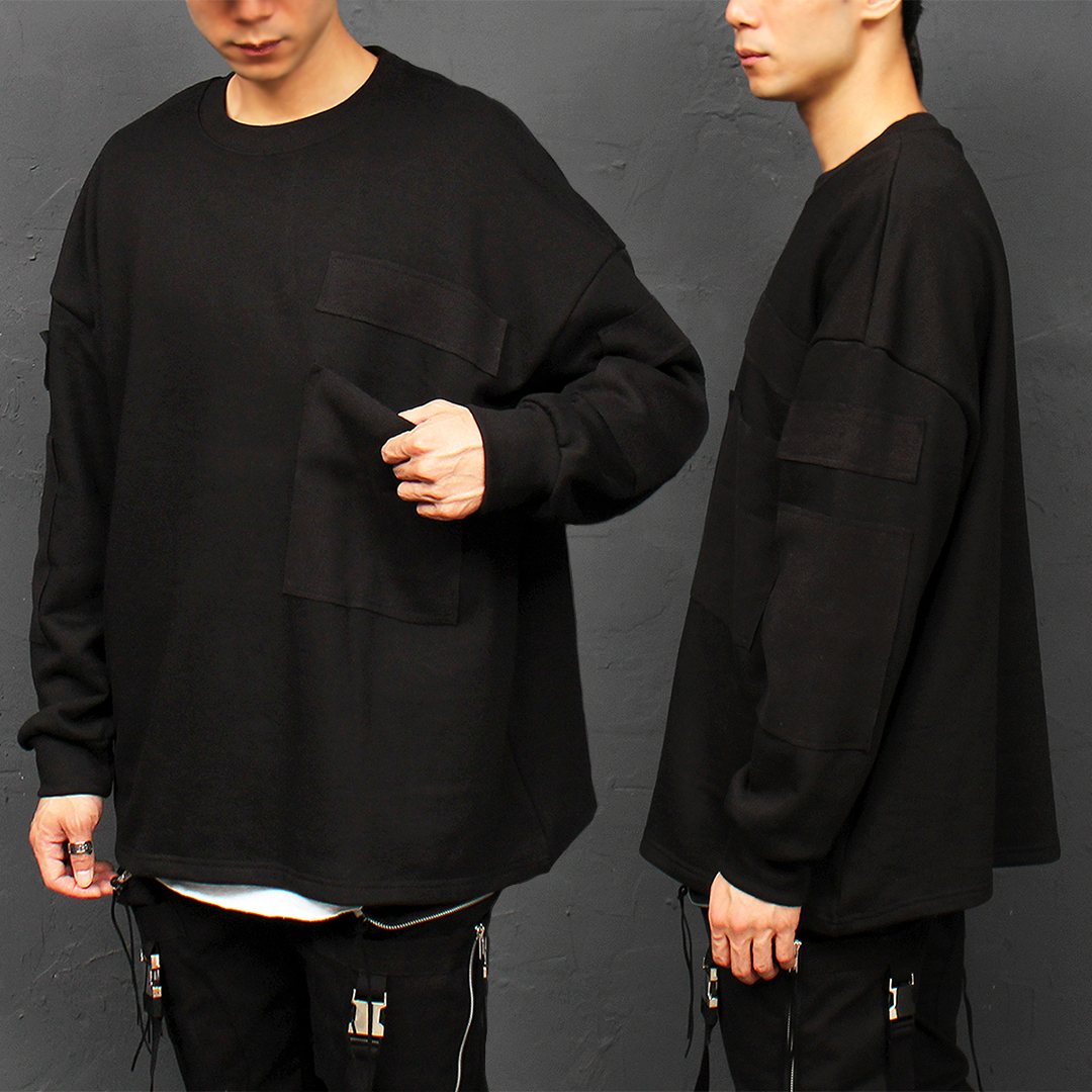Patched Big Pocket Boxy Sweatshirt 044