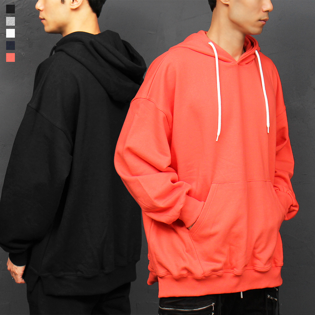 Over-sized Loose Fit Split Side Color Boxy Hoodie 015
