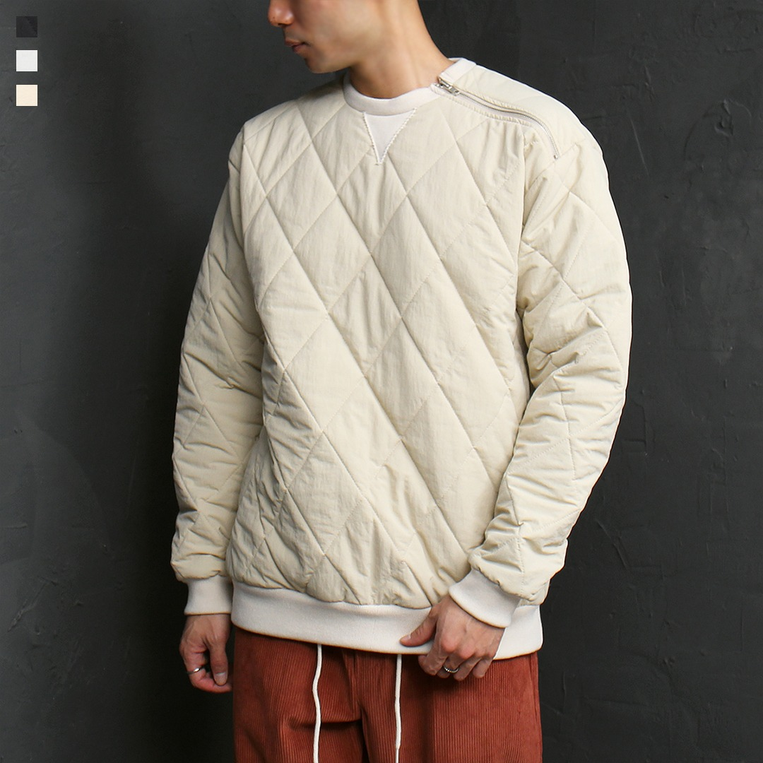 Quilting Cotton Insulation Padded Sweatshirt 060