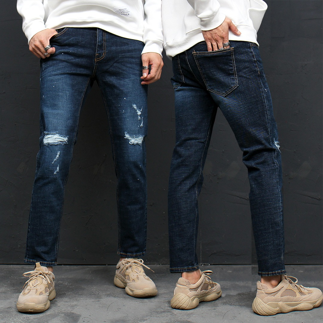 Slim Fit Distressed Faded Skinny Jeans 122