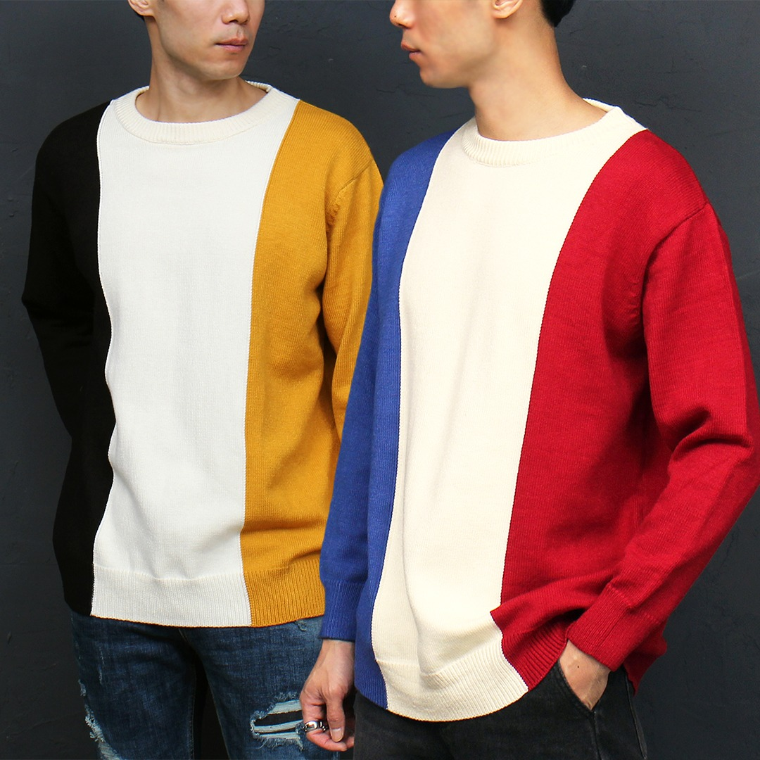 Contrast 3 Color Knit Jumper 021