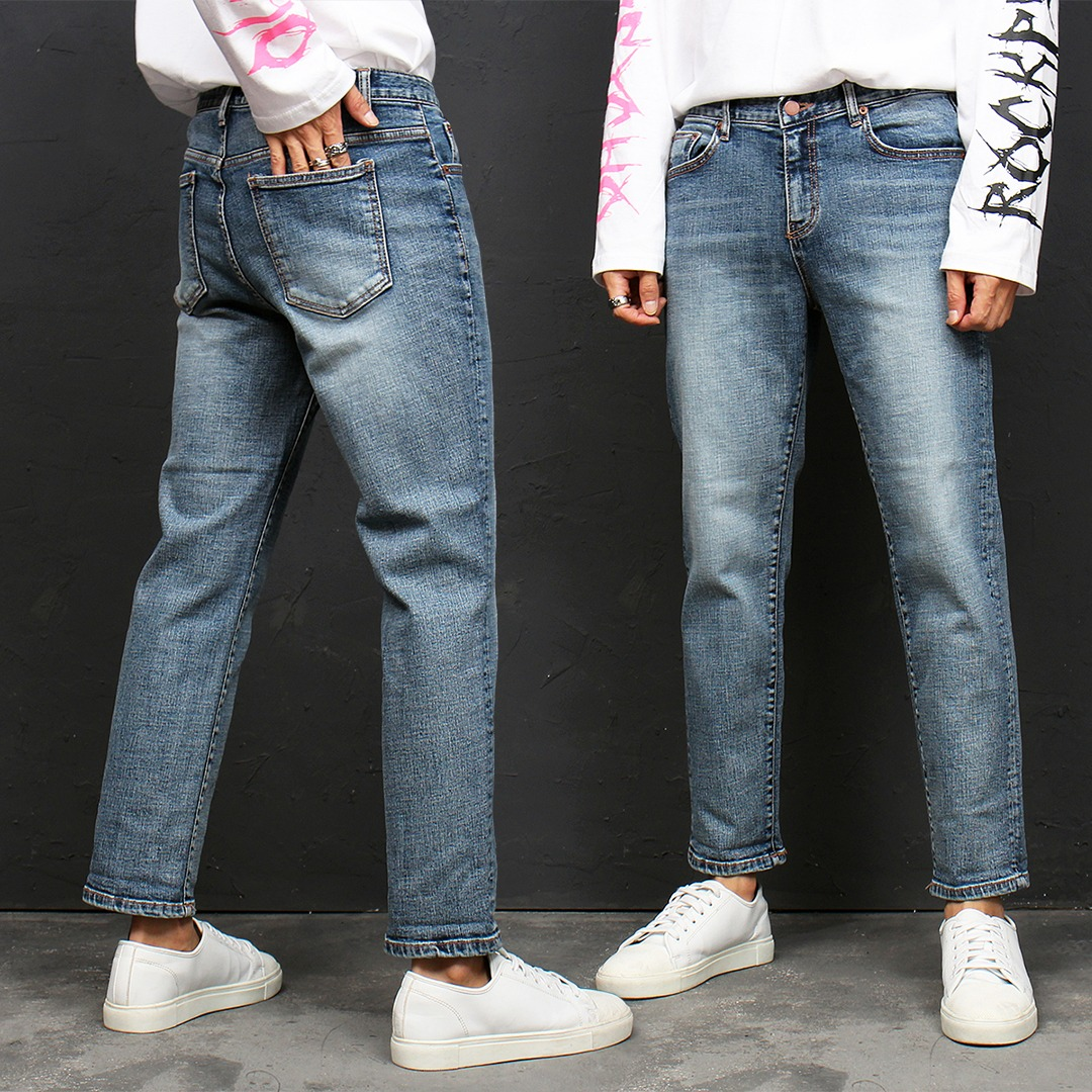 Standard Fit Straight Blue Jeans 119