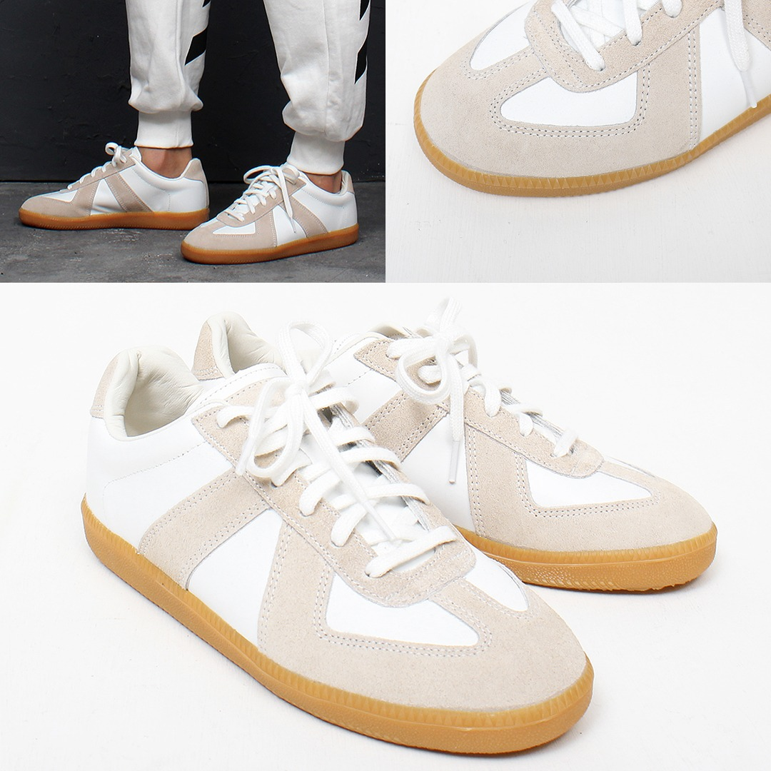 Synthetic Suede Leather Combi Stitch Sneakers 016
