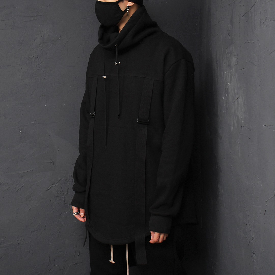 Techwear Look High Turtle Neck Boxy Sweatshirt 063