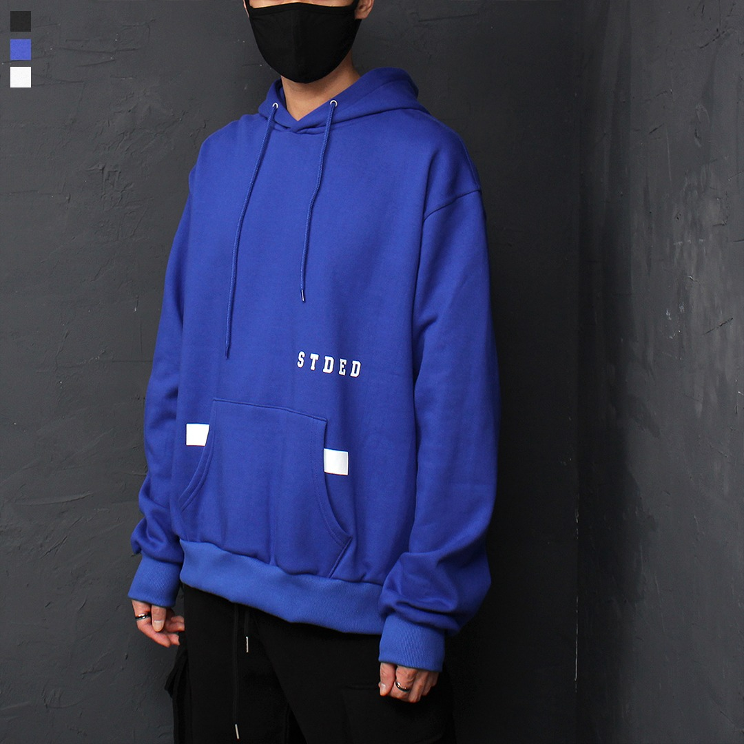 Loose Fit Fleecy Interior Boxy Hoodie 076