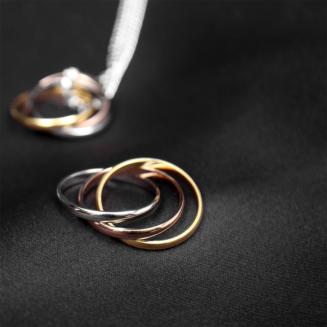 Triple Color Tone Steel Rolling Ring R69