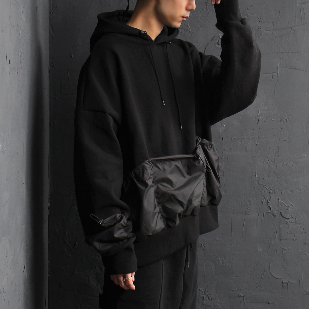 Techwear Look Multi Pocket Over-sized Fit Hoodie 087