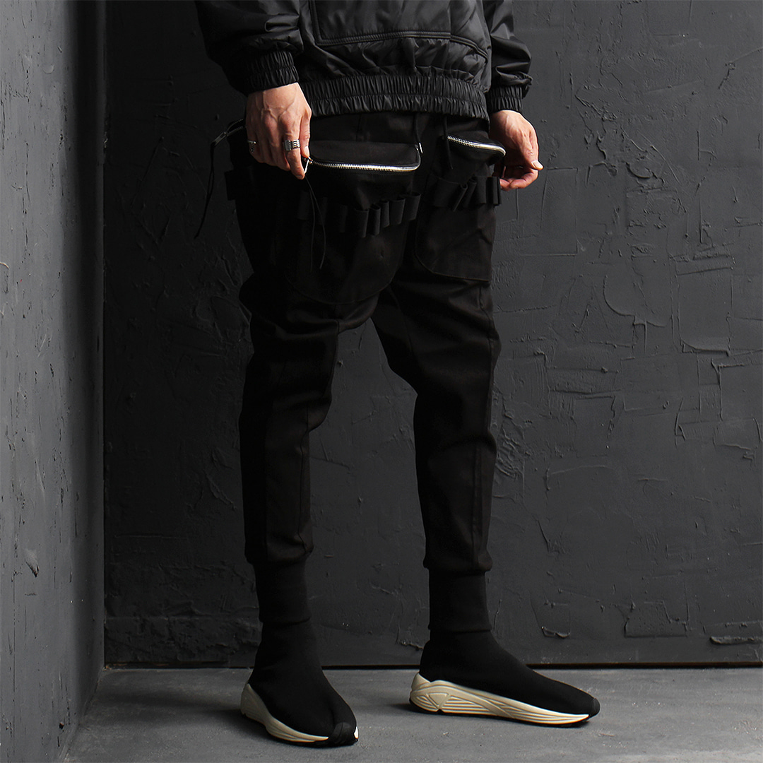 Techwear Bullet Belt Zippered Cargo Pocket Joggers 025