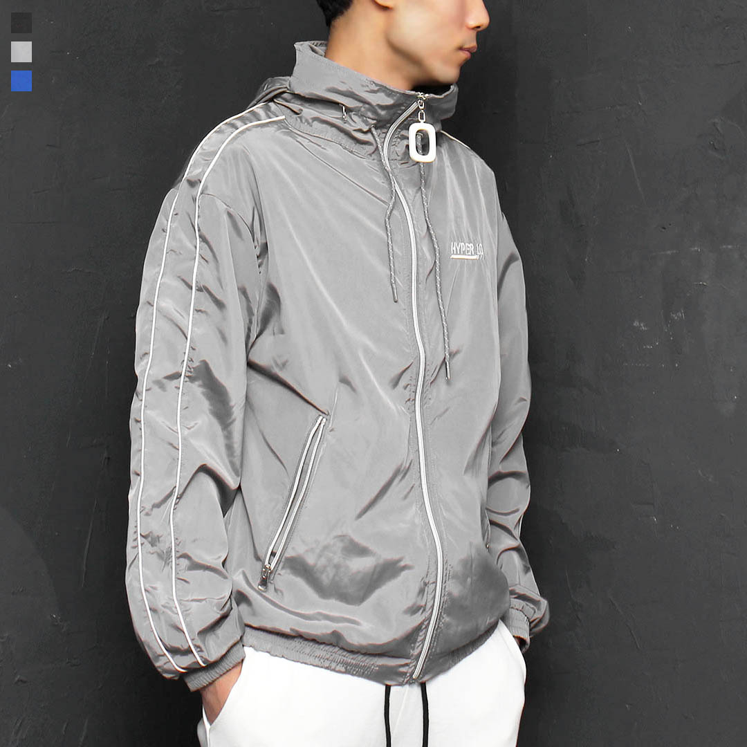 Side Line Wind Breaker Zip Up Track Jacket 076