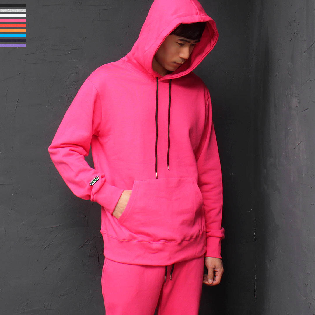 Basic Color Kangaroo Pocket Cotton Hoodie 094