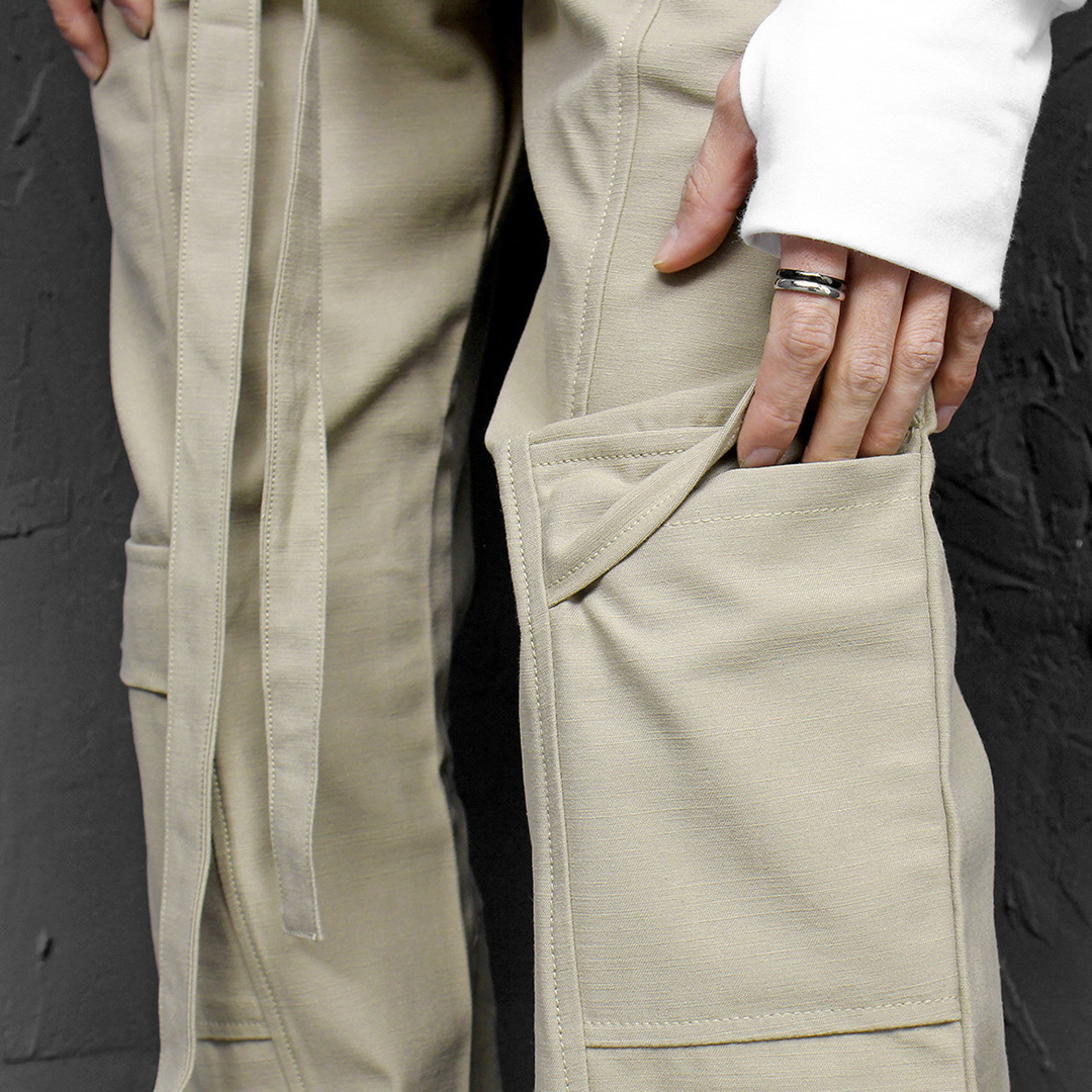 Knee Cargo Pocket Long Strap Styling Pants 113