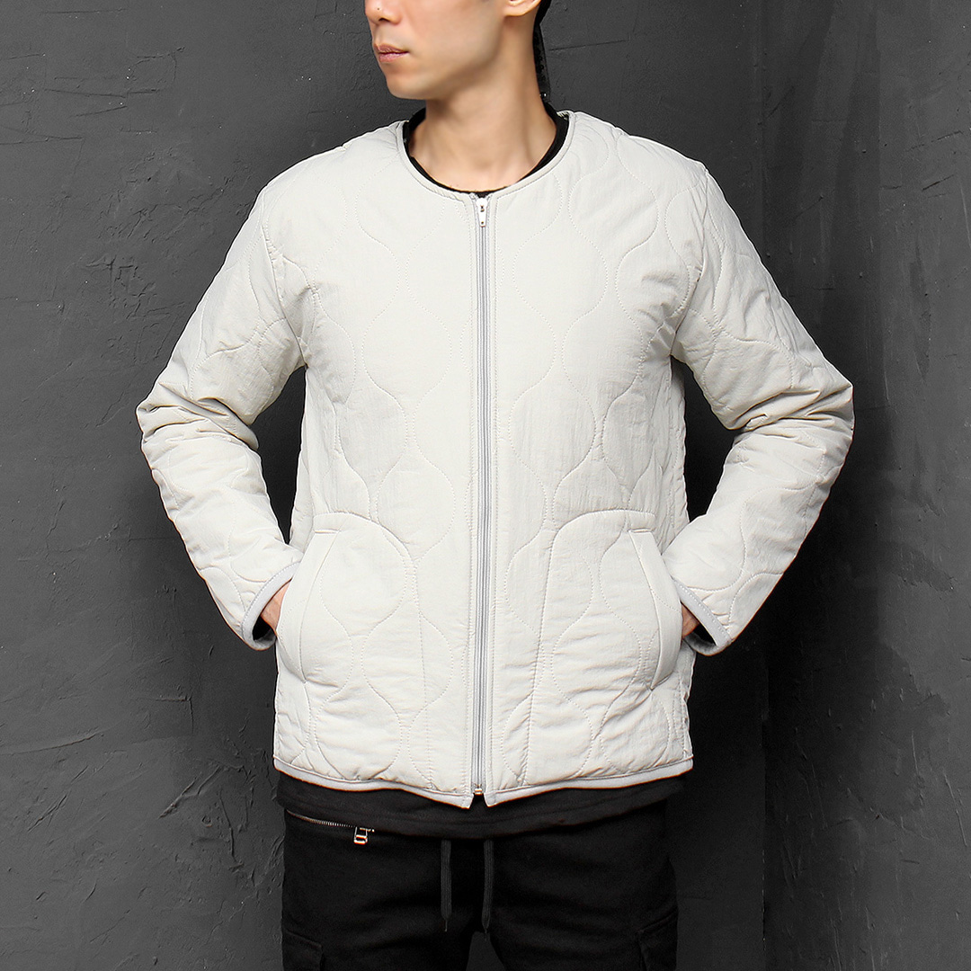 Quilting Cotton Insulation Padded Zip Up Jacket 080