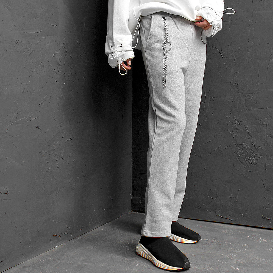 Double Ring Chain Styling Sweatpants 180