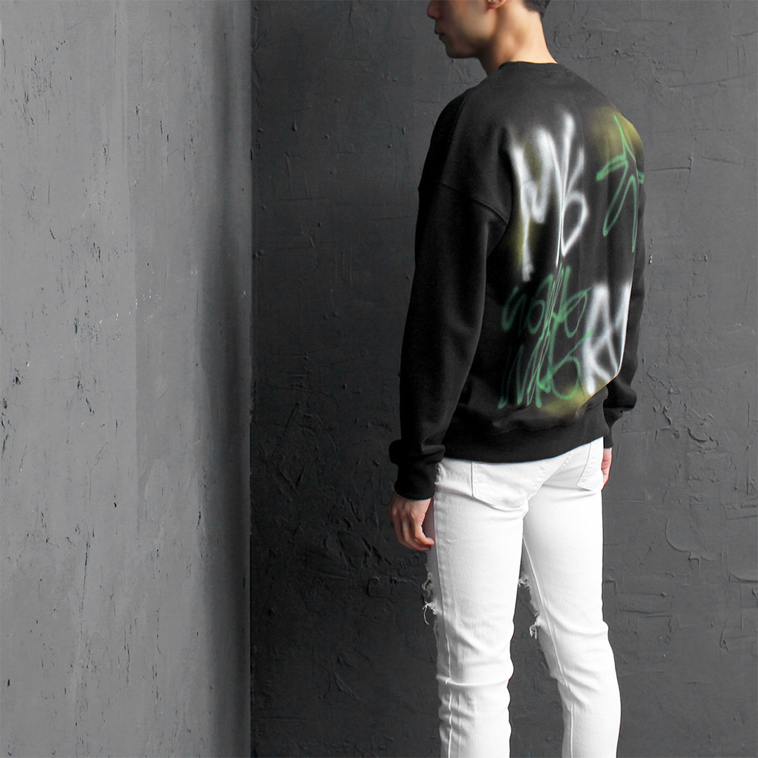 Back Random Painting Sweatshirt 093