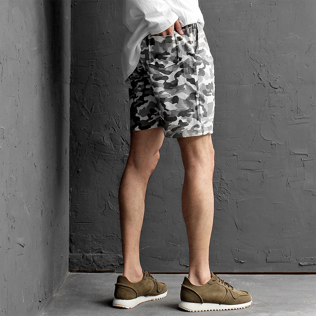 Camouflage Pattern Short Sweatpants 449