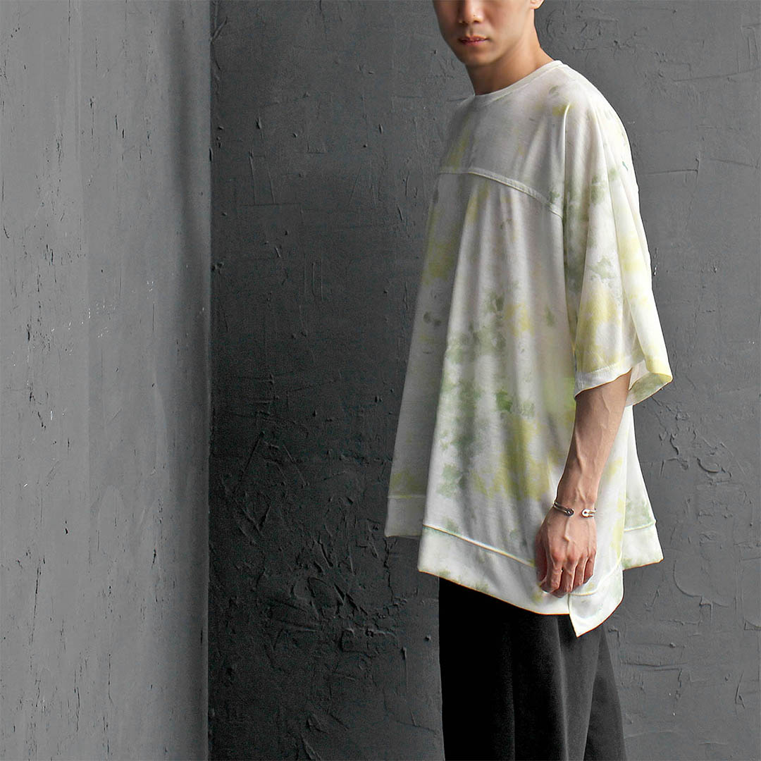 Natural Water Washed Color Oversized Loose Fit Tee 390