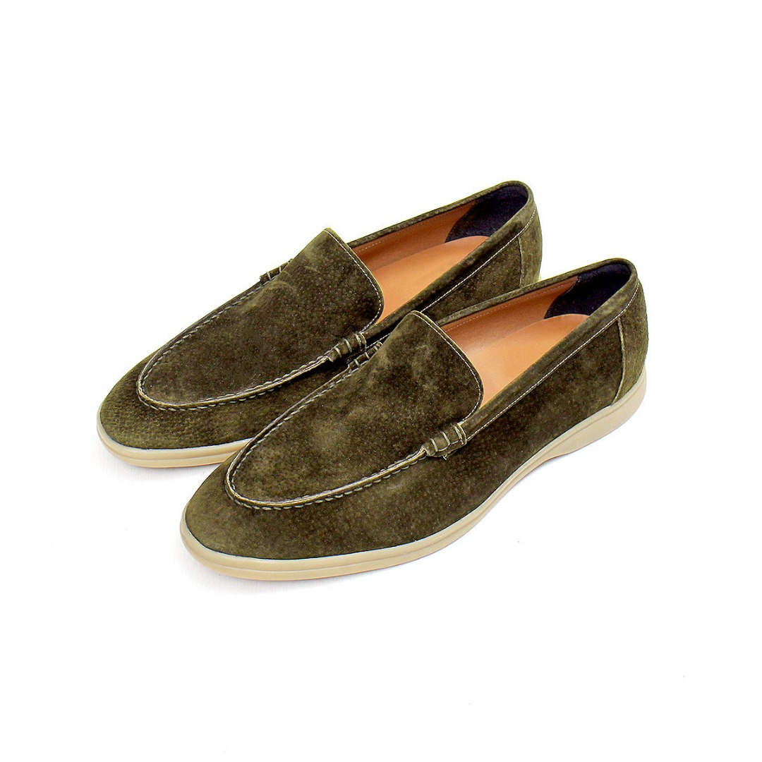 Cowhide Suede Leather Color Loafer 458