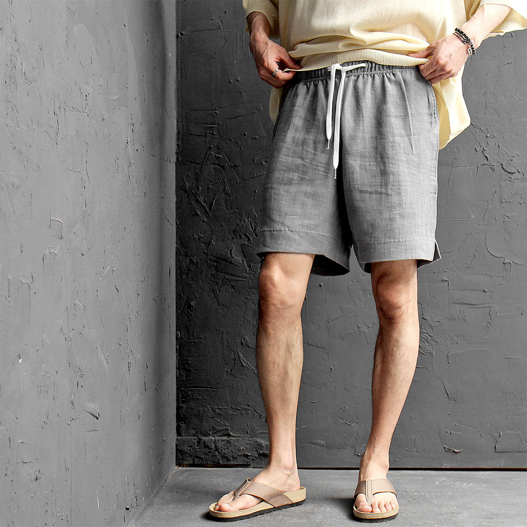 Vintage Pigment Washed Linen Shorts 460