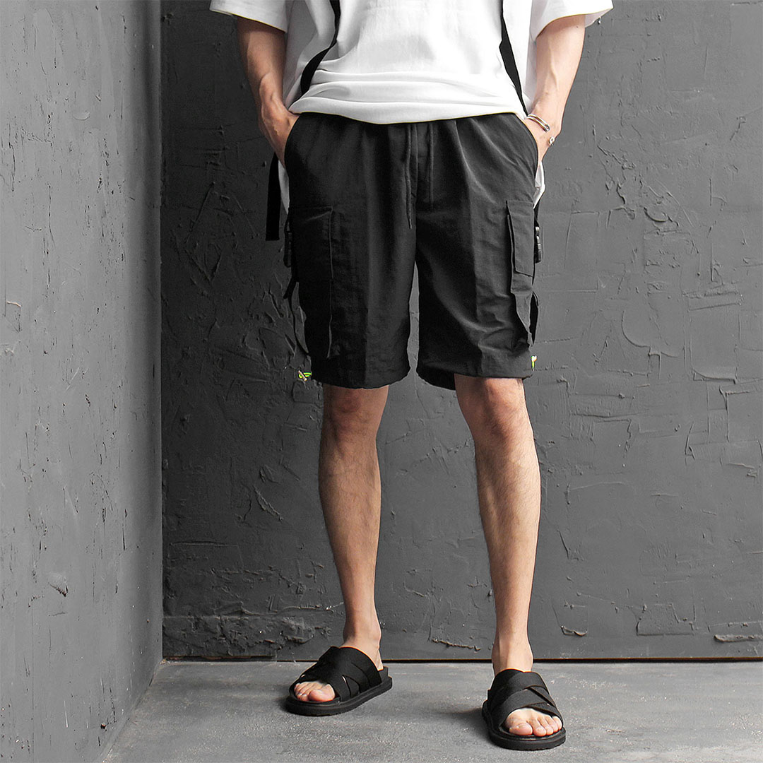 Buckle Cargo Pocket Short Sweatpants 490