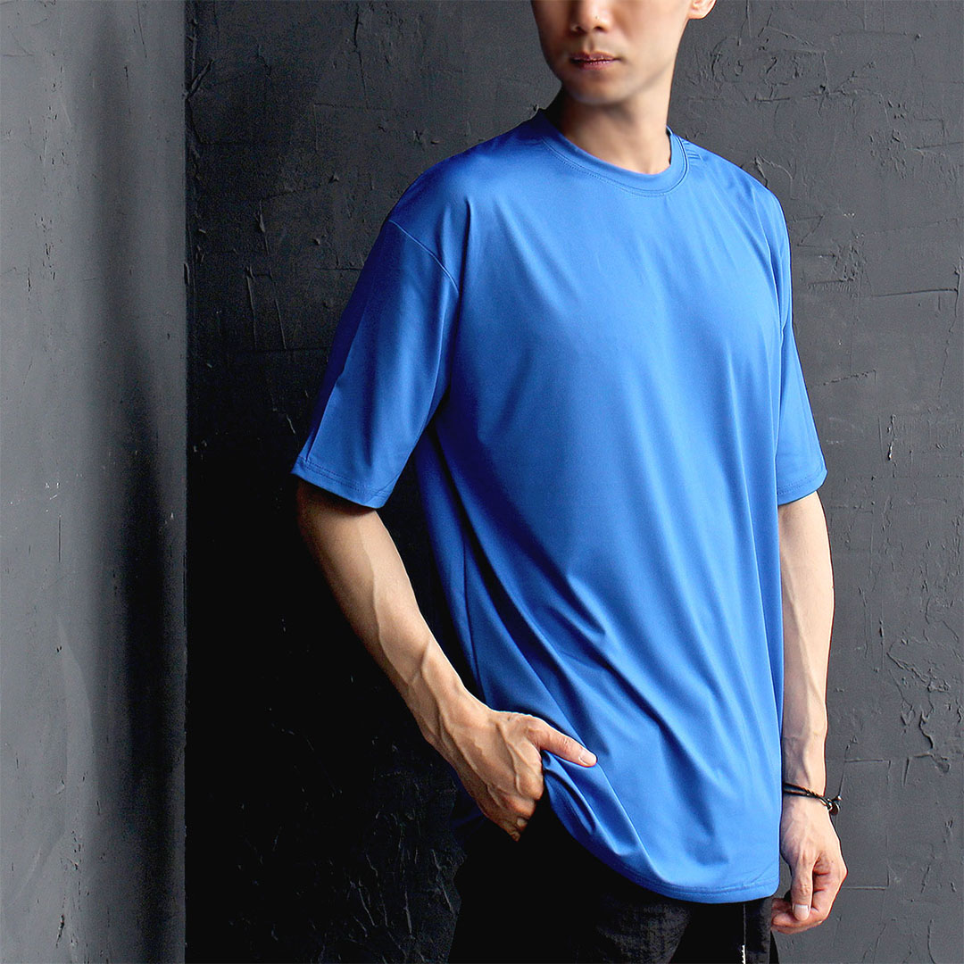 Loose Fit Rash Guard Swimsuit Color Short Sleeve Tee 515