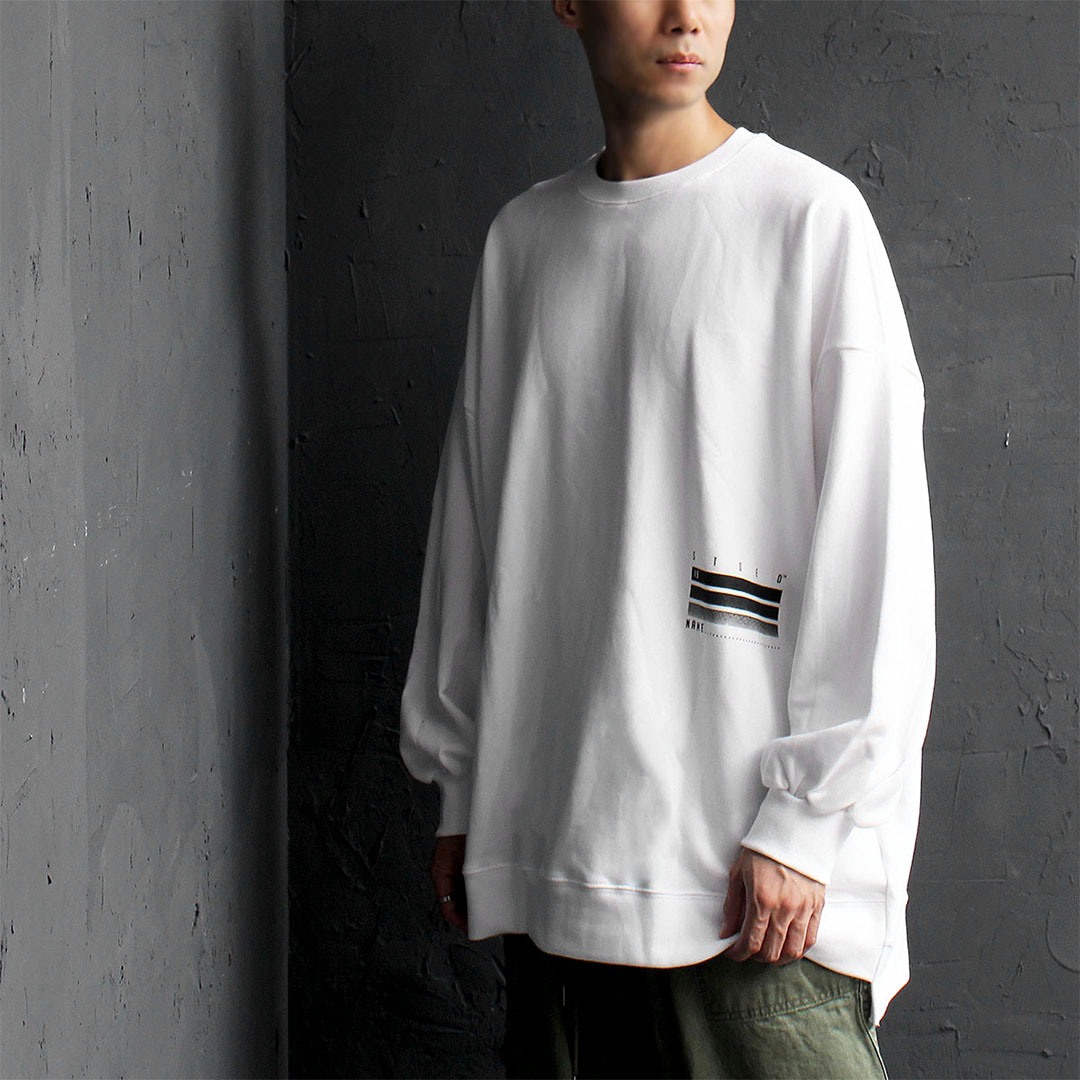 Oversized Loose Fit Unbalanced Hem Long Sleeve Tee 567
