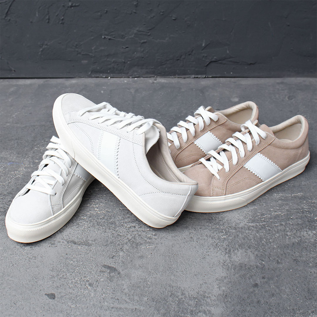Combi Suede Leather Canvas Lace Up Sneakers 721