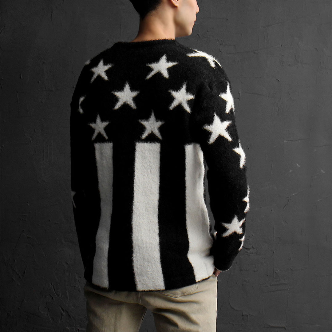 Star US Flag Mohair Knit Jumper 767