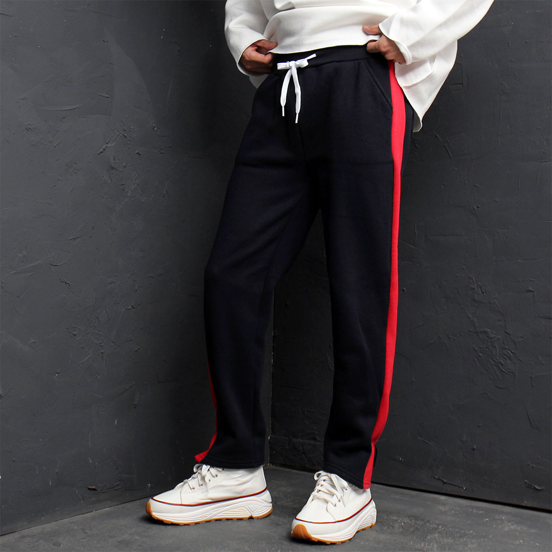 Contrast Side Line Split Hem Sweatpants 877