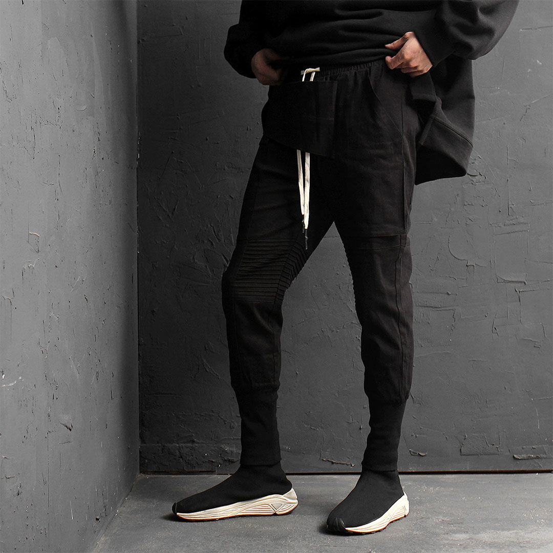 Slim Fit Diagonal Cover Style Jogger Pants 828
