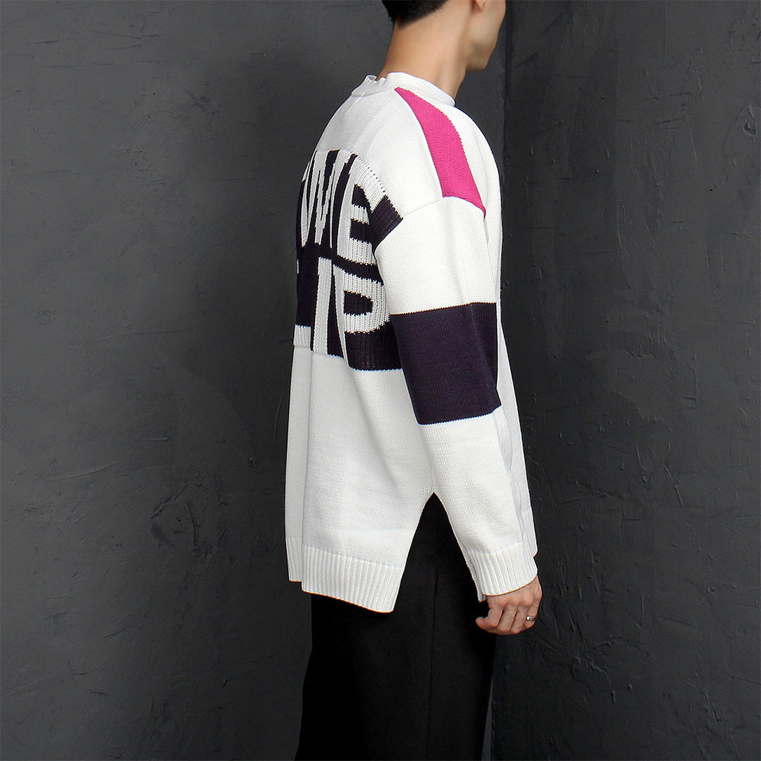 Split Side Logo Knit Cardigan 921