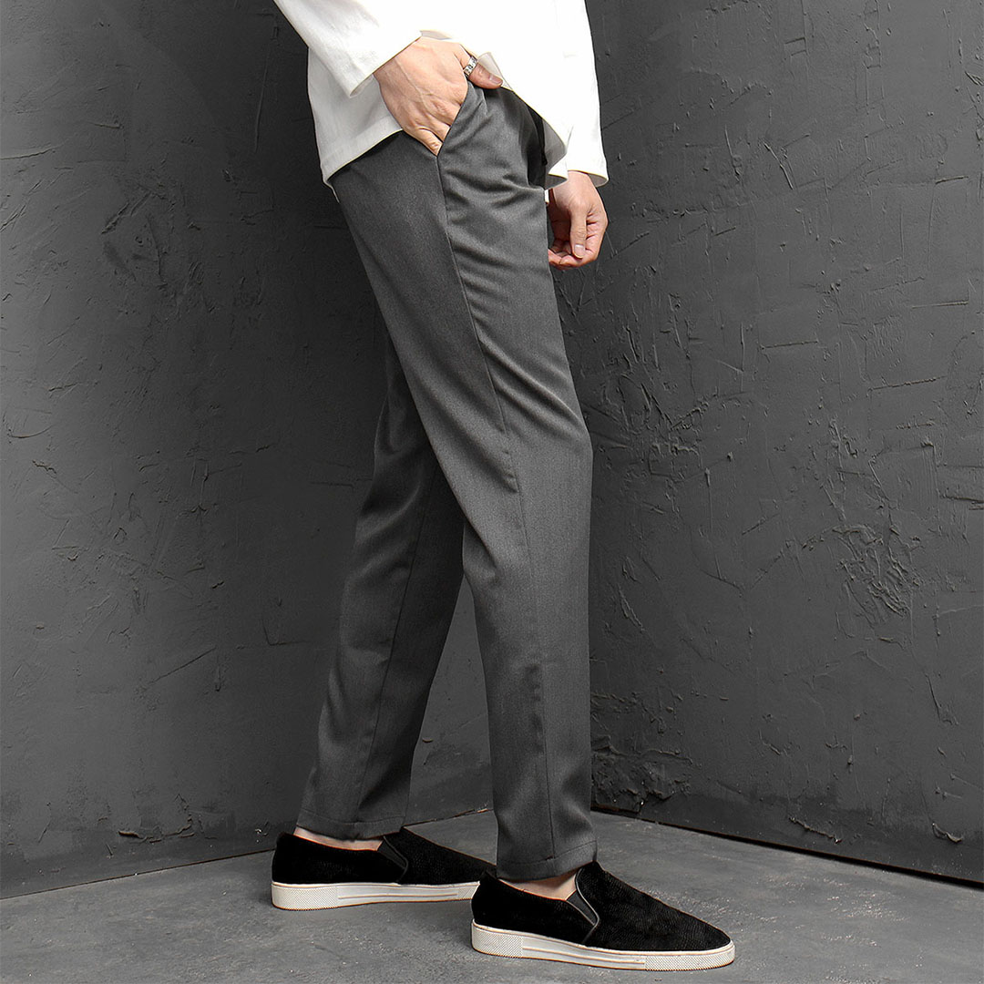 Elastic Waistband Semi Low Crotch Slacks 959