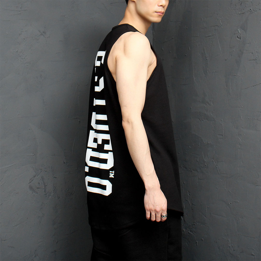 Back Graphic Logo Printing Sleeveless Tee 978