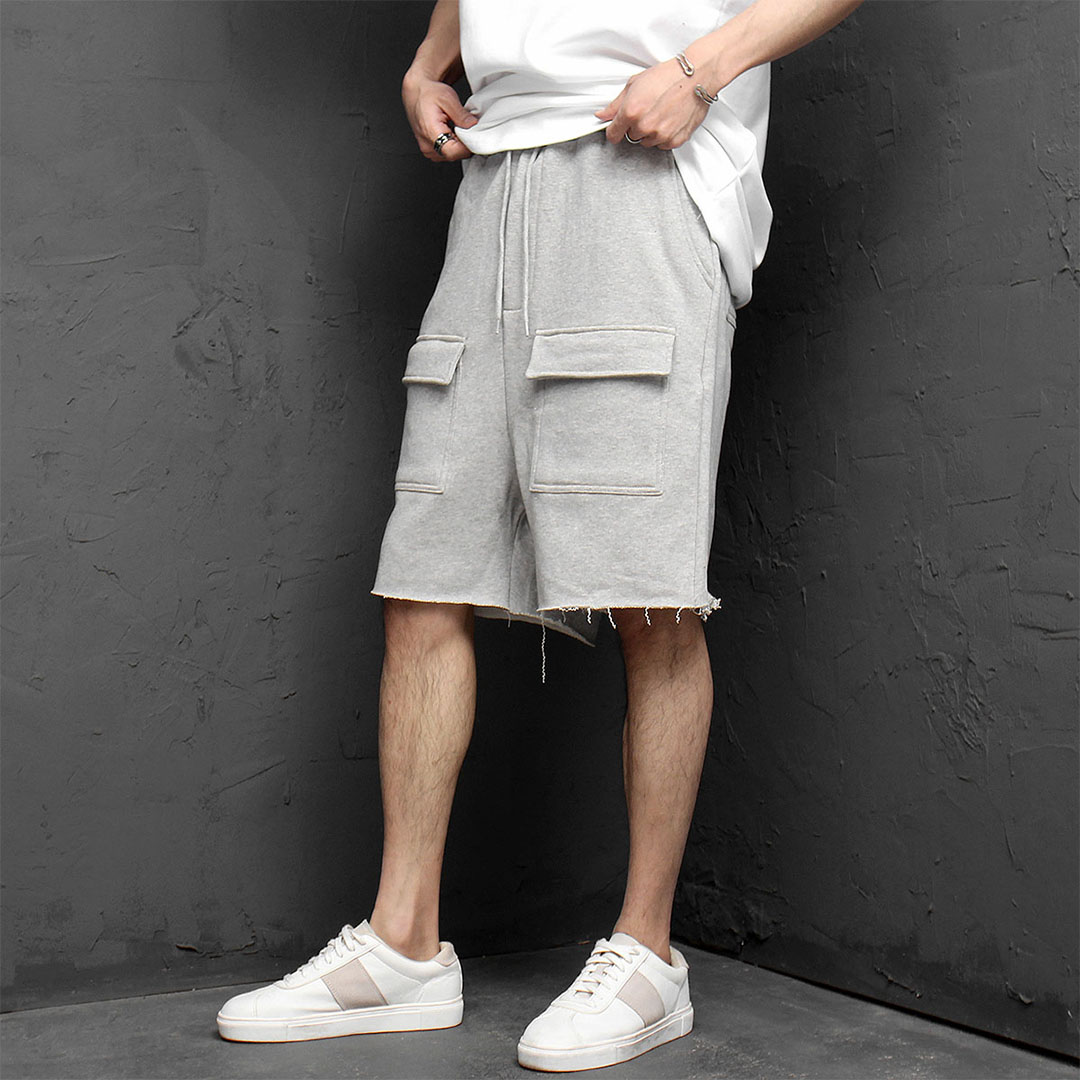 Loose Fit Front Cargo Pocket Baggy Shorts 985