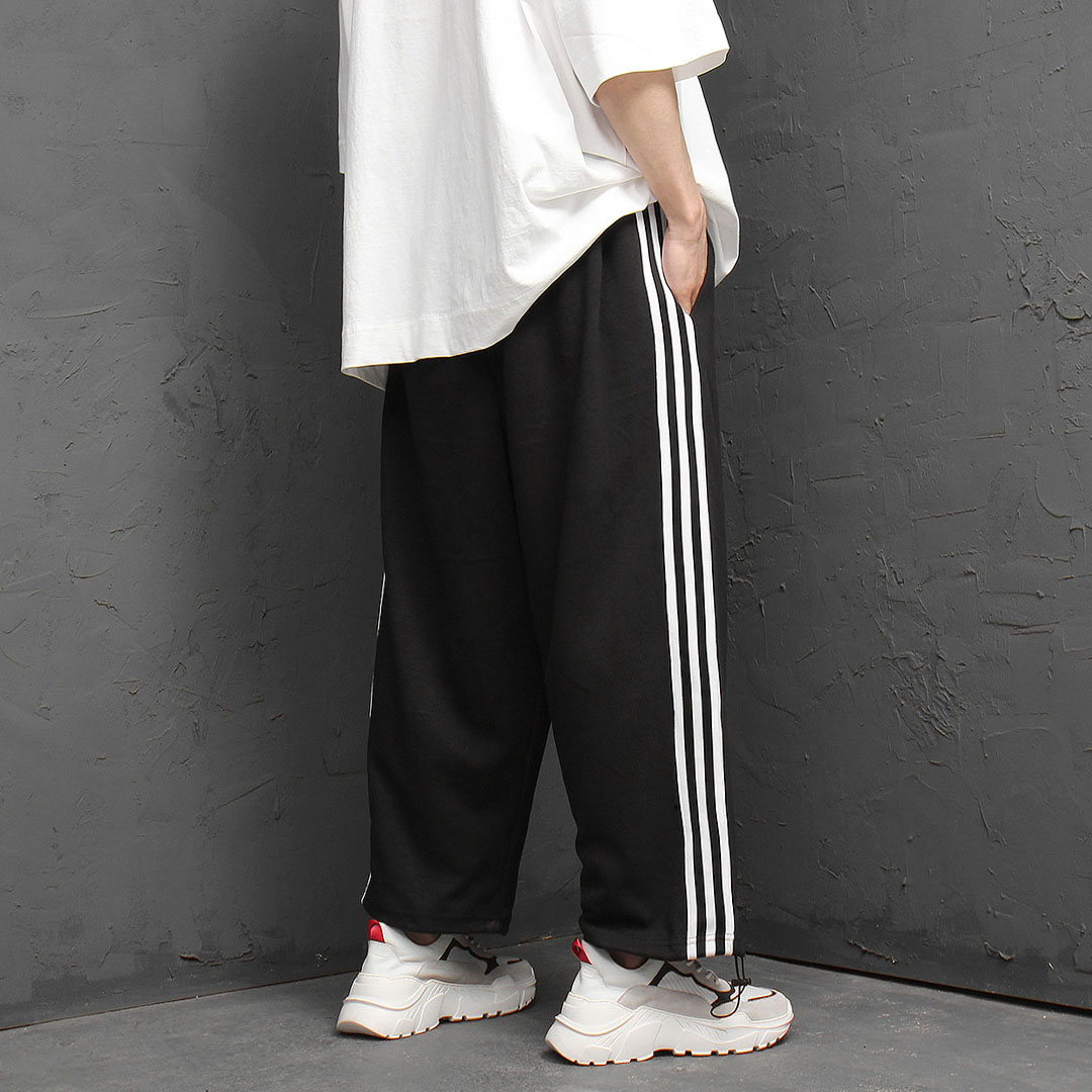 Triple Line Draw String Wide Sweatpants 1011