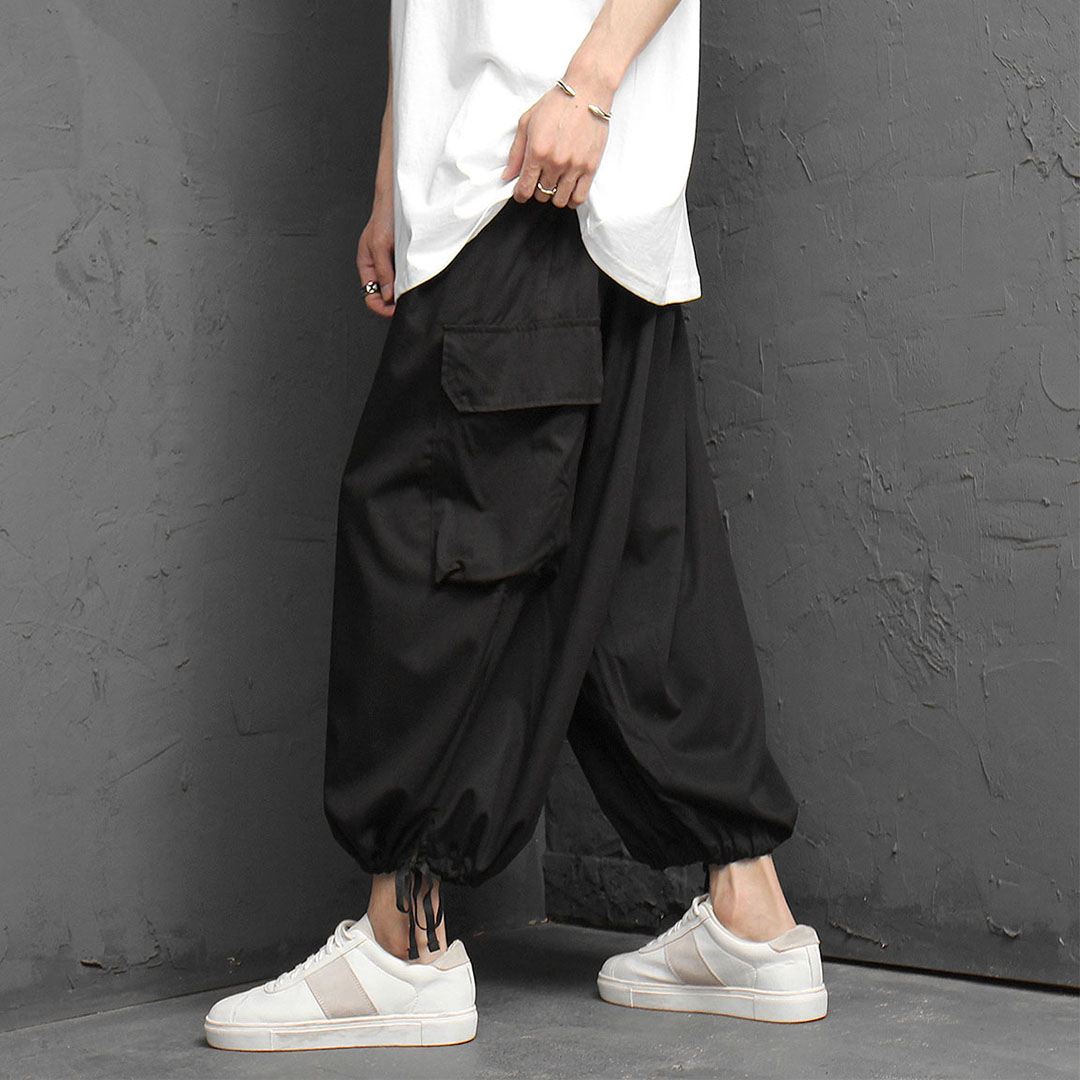 Oversized Wide Crop Baggy Pants 1057