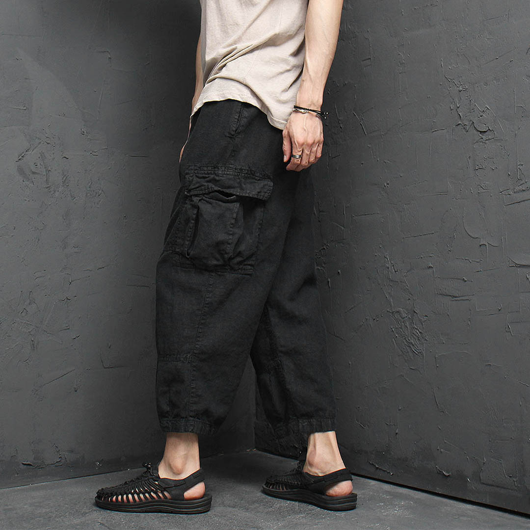 Vintage Washed Cargo Pocket 4/5 Pants 1161