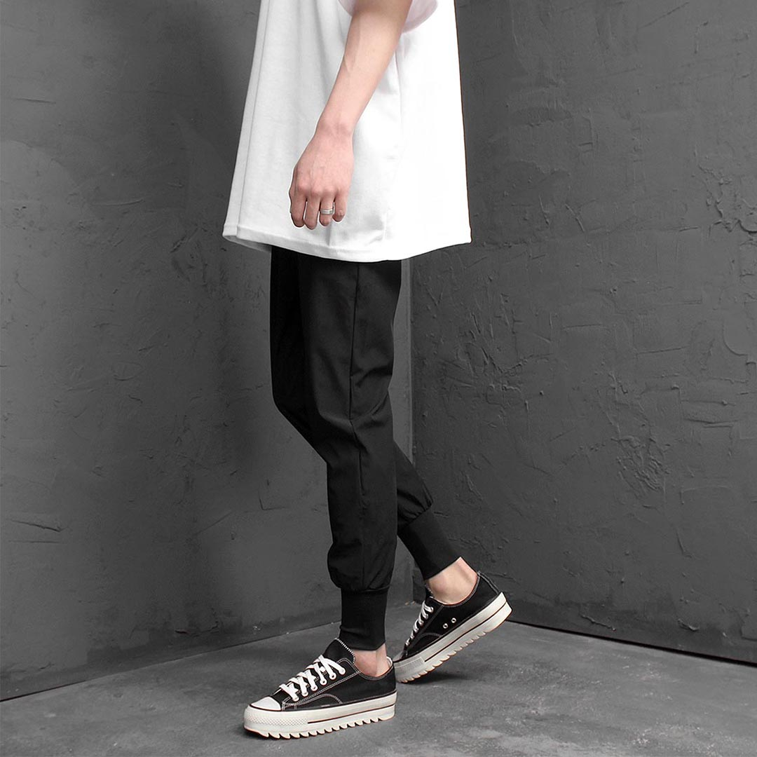 Ice Cool Material Slim Jogger Pants 1245