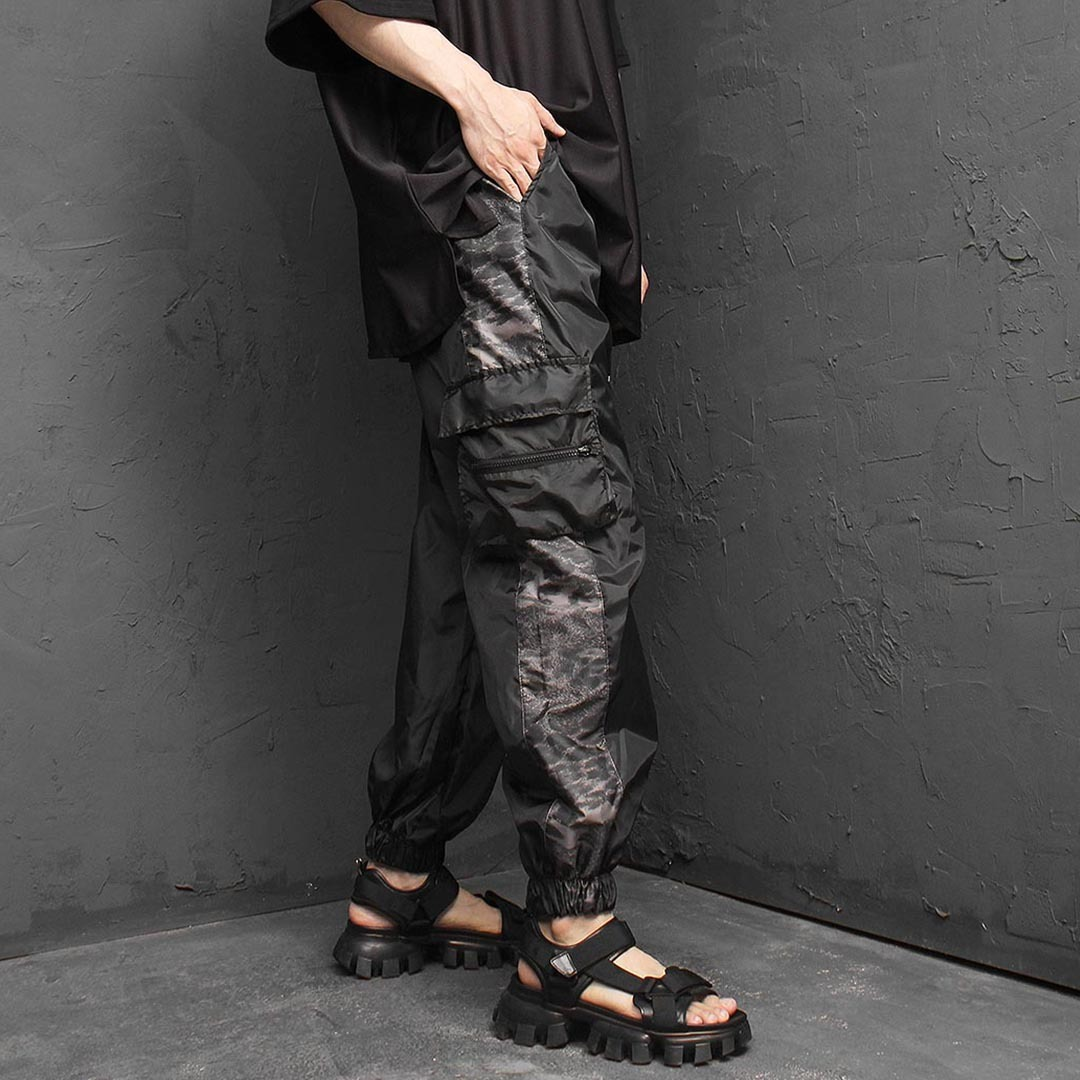 Cargo Pocket Side Camouflage Jogger Pants 1297