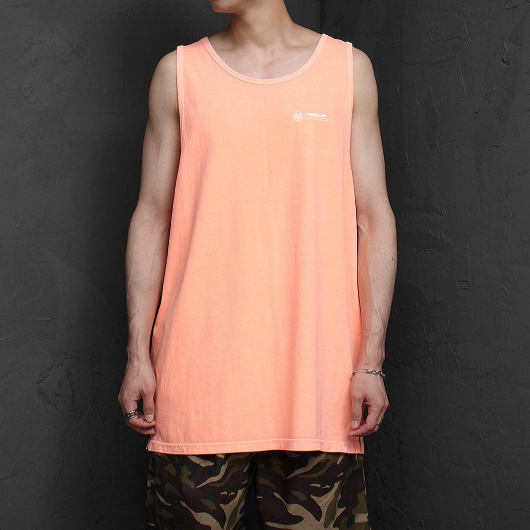 Loose Fit Vintage Pigment Washed Sleeveless Tee 1296