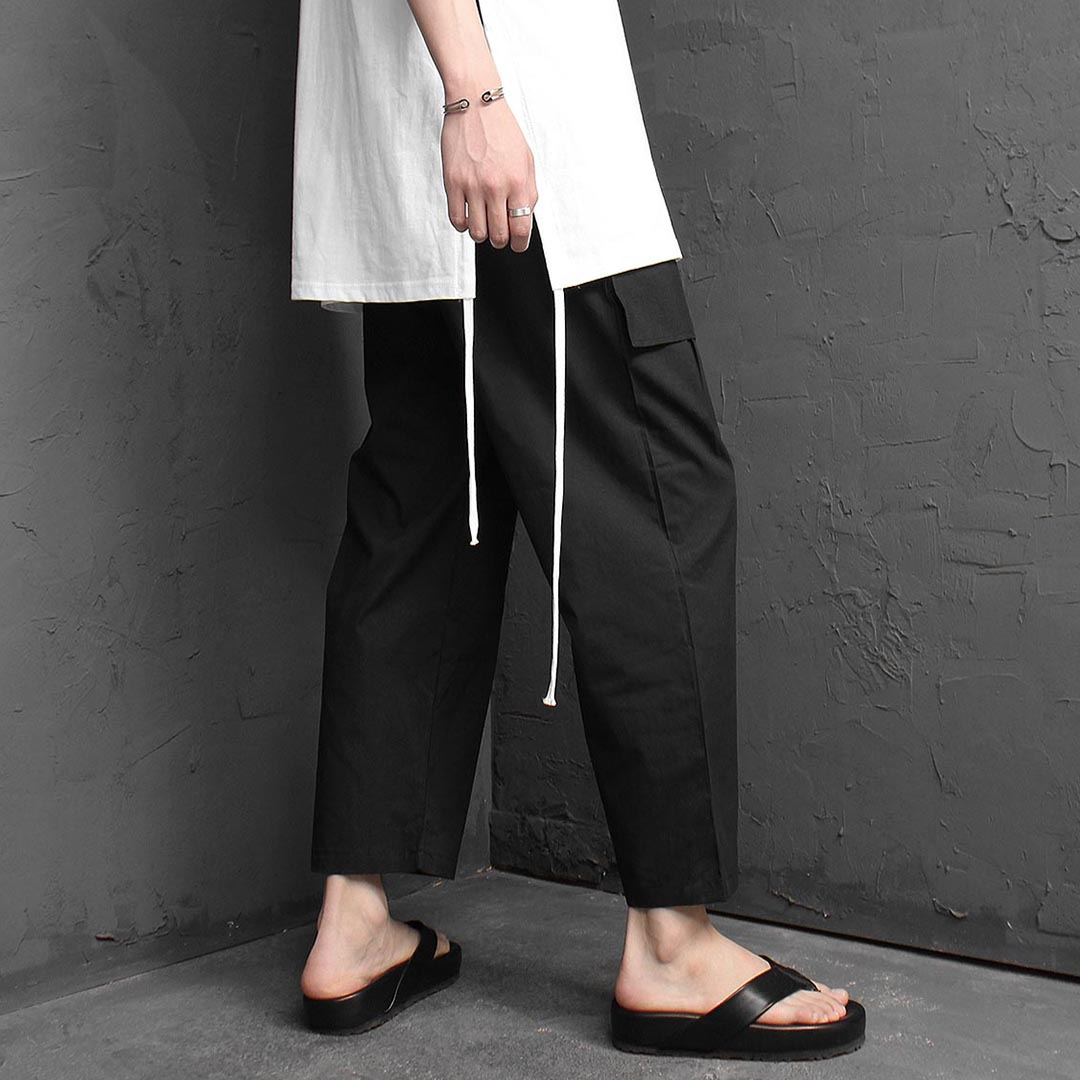 Spandex Elastic Band Wide Pants 1268