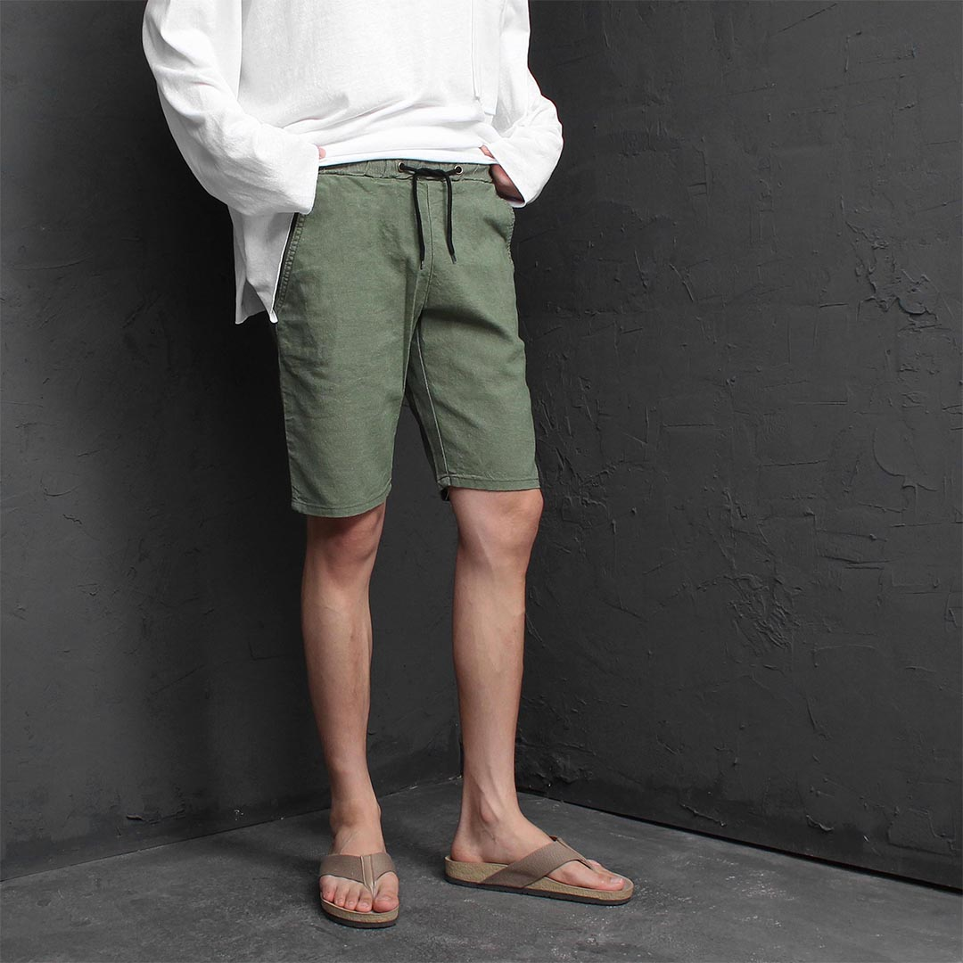 Vintage Washed Linen Shorts 1258