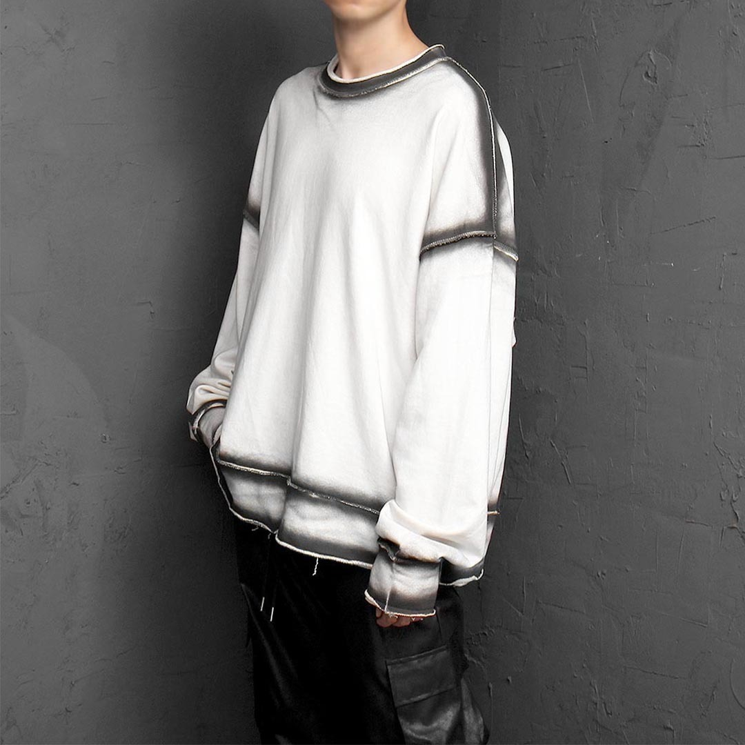 Vintage Side Line Painted Sweatshirt 1082