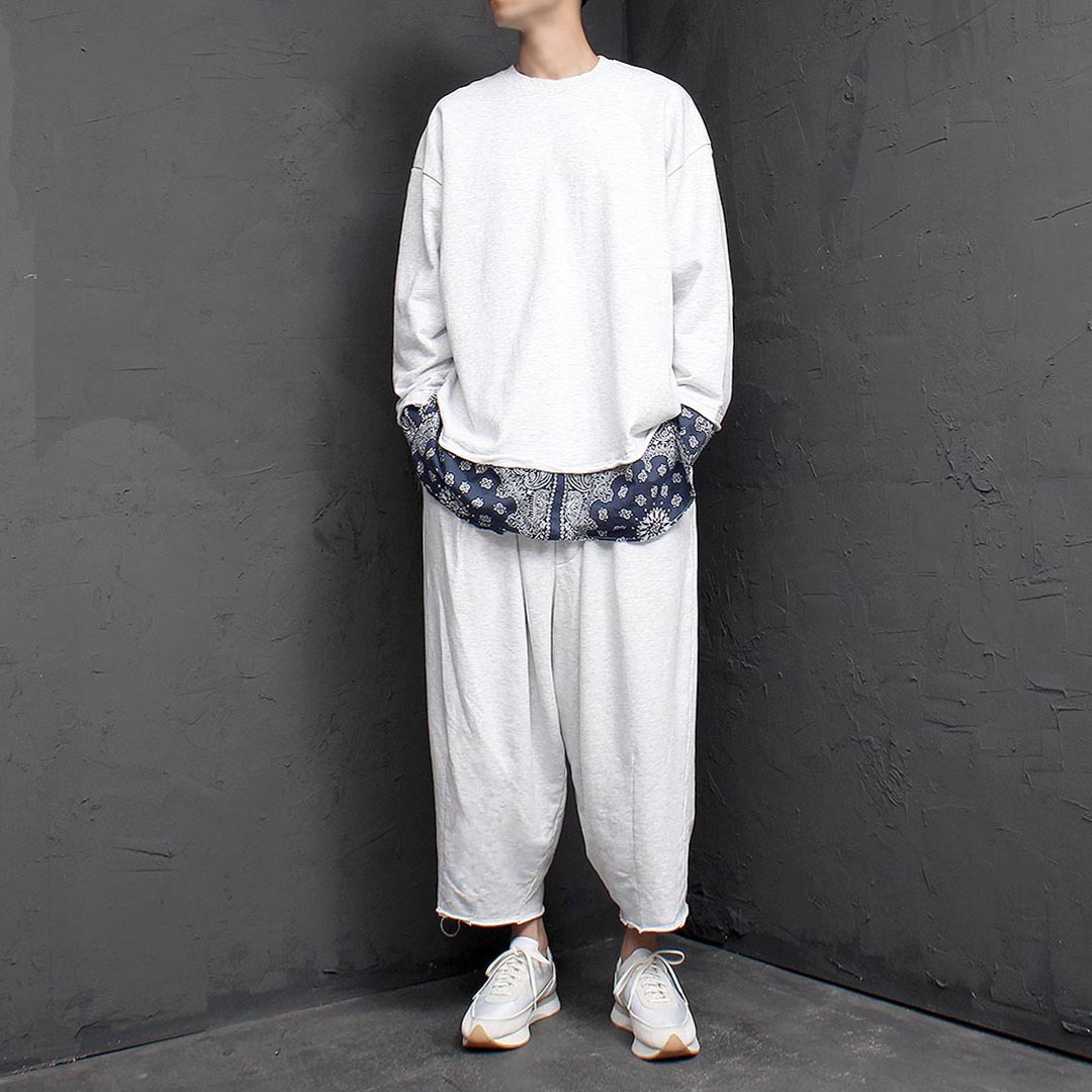Bandana Hem Sweatshirt Balloon Pants Set 1348