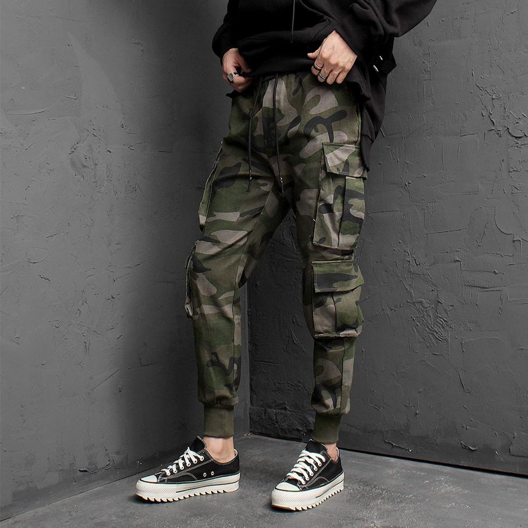 Camouflage Double Big Cargo Jogger Pants 1459
