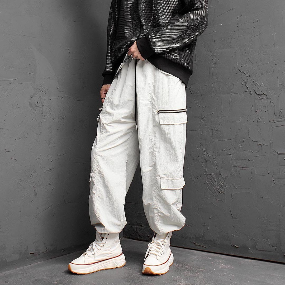 Zipper Styling Jogger Pants 1414