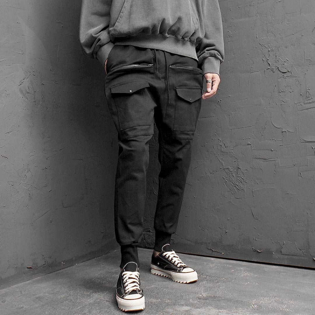 Over Zipper Cargo Baggy Joggers 1479