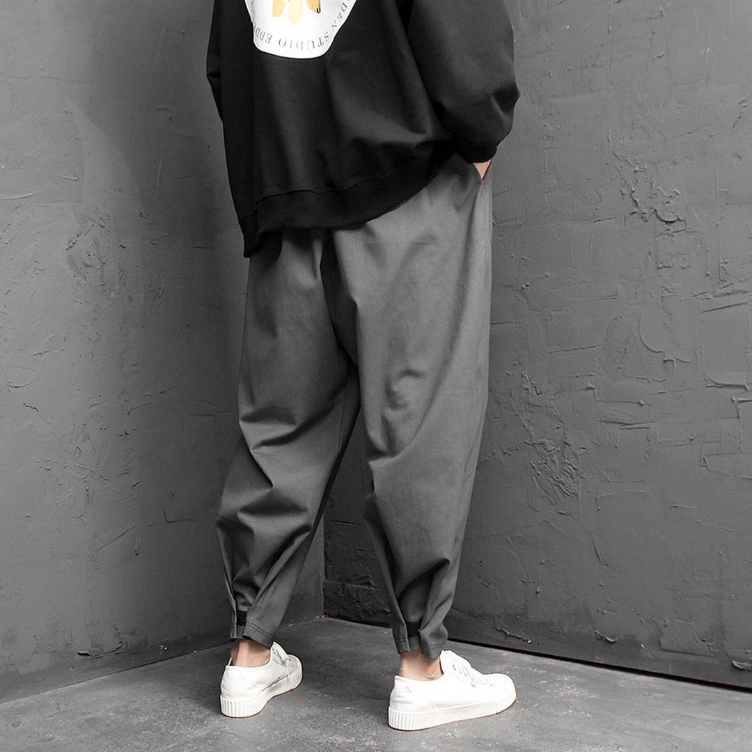 Wide Elastic Band Baggy Pants 1432