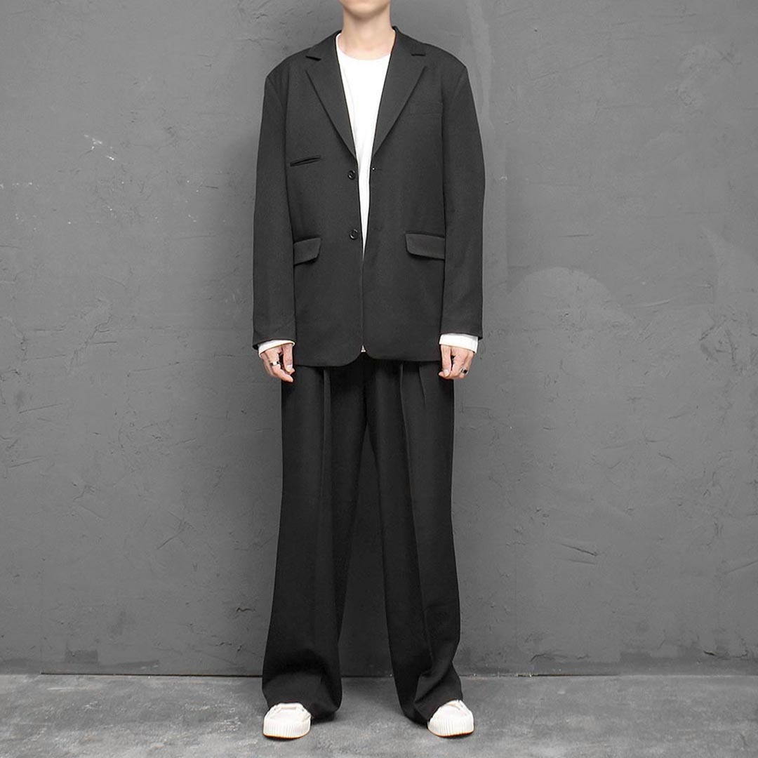 Wide Fit Jacket Slacks Pants Set 1416