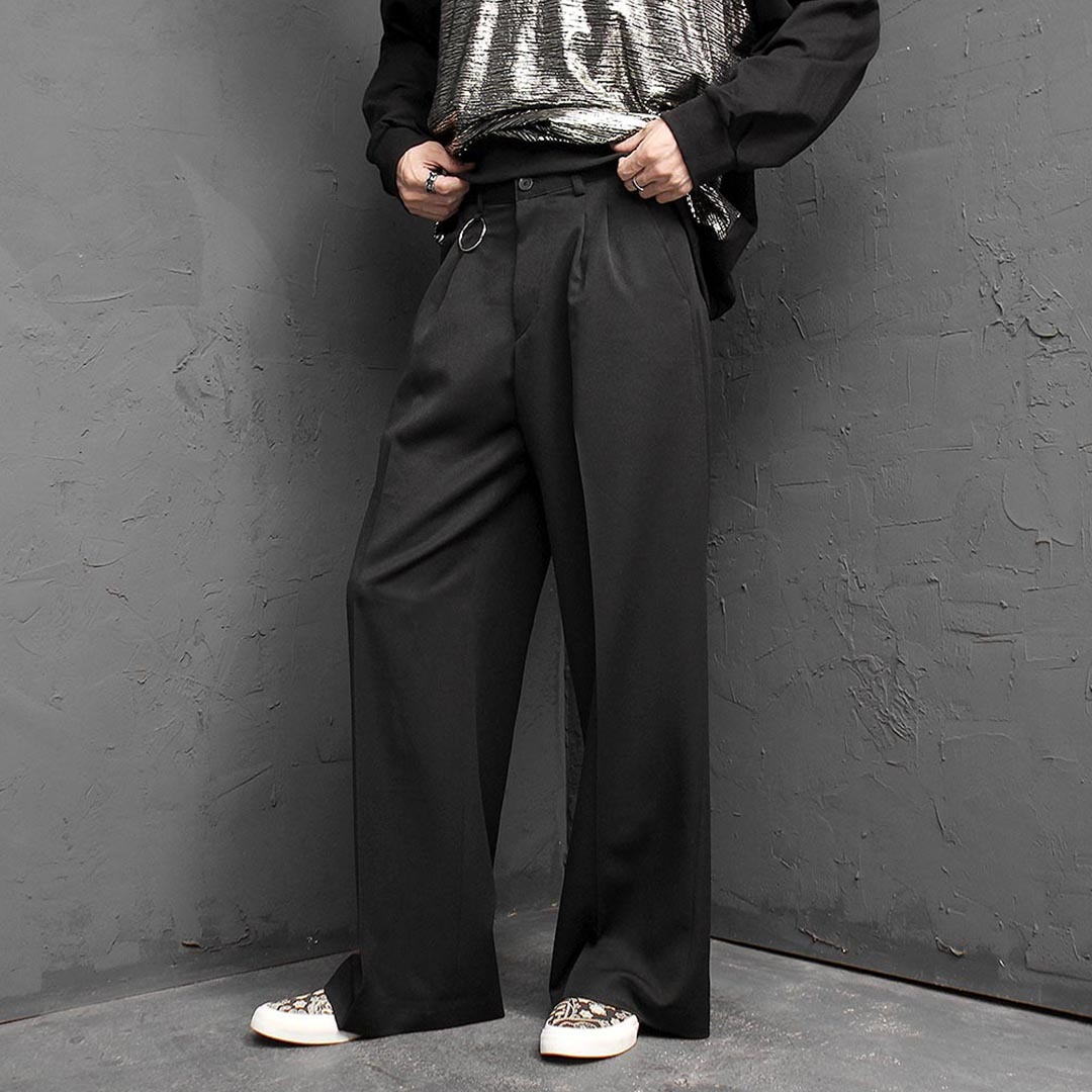 Oversized Loose Fit Wide Slacks Pants 1401